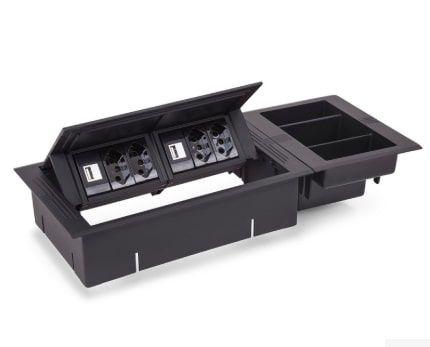 Compartimento para caixa Office - Preto