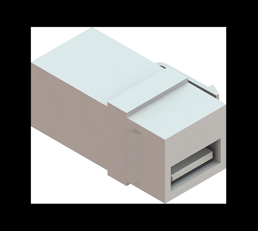 Conector USB Emenda Keystone - Branco