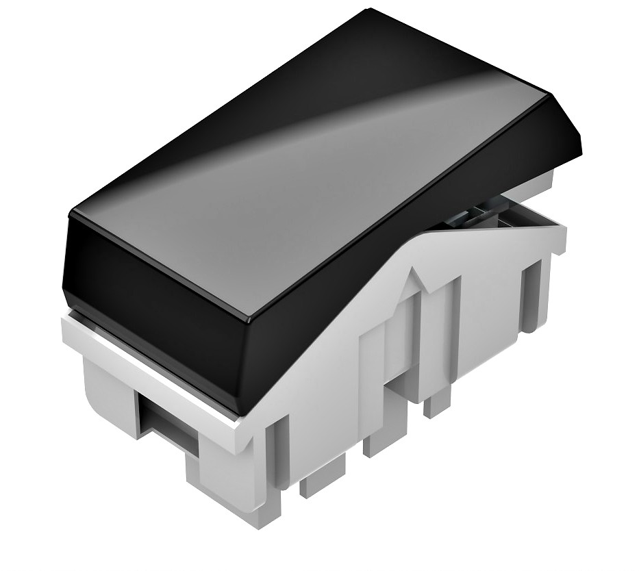 Interruptor Simples Pezzi BLK - NBR - 14136 - Preto