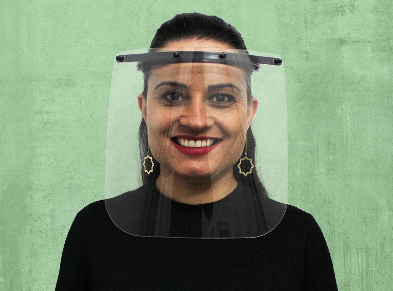 KIT com 250 Máscaras de Proteção Face Shield