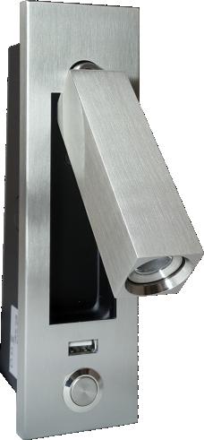 Luminária Verticale Access Metal - Inox Escovado