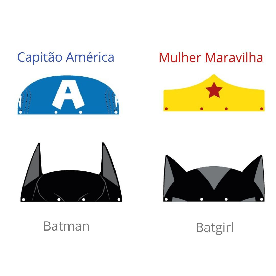 Máscara Full Face Infantil - Batman