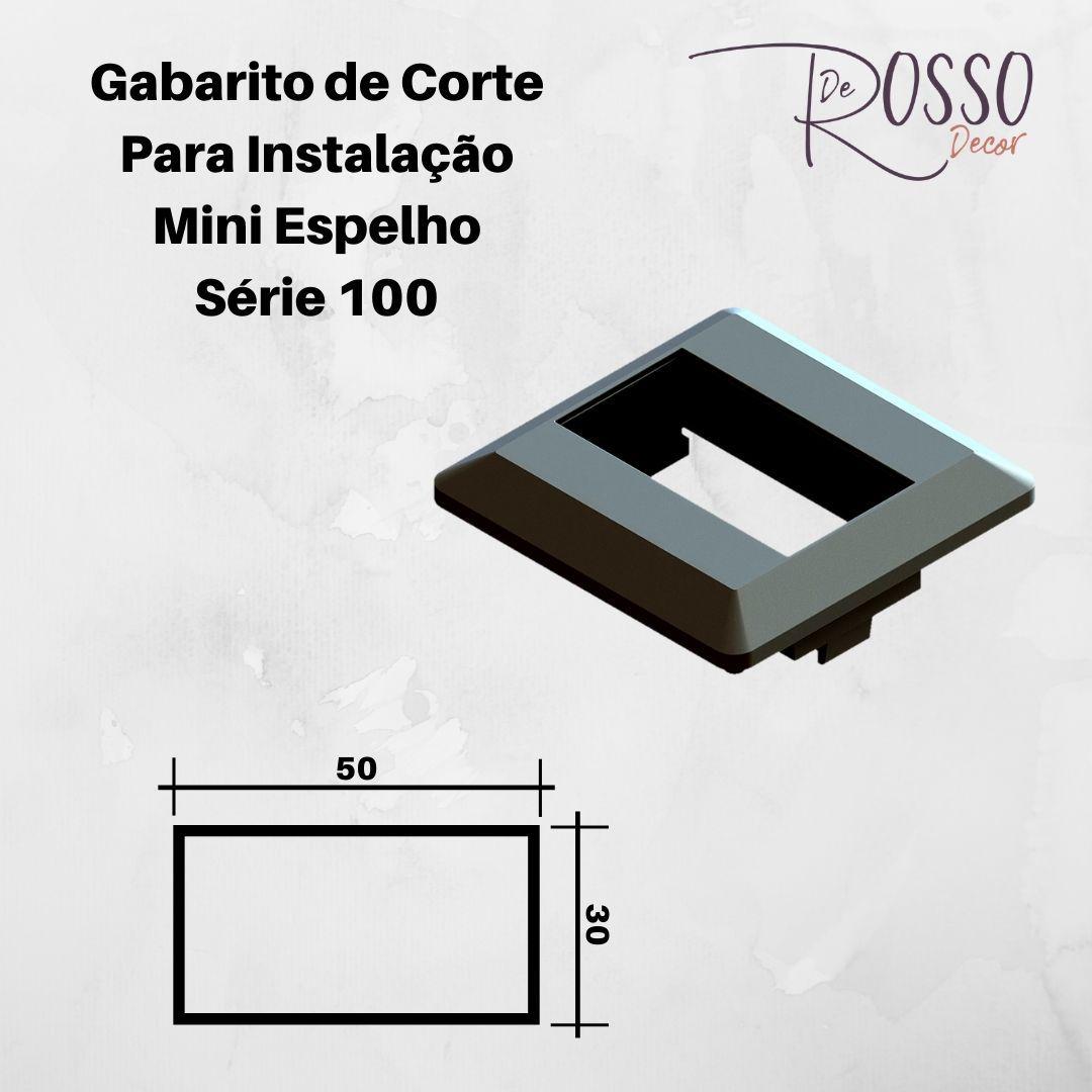 Mini Espelho Série 100 - 1 Bloco Preto (Não Acompanha Bloco)
