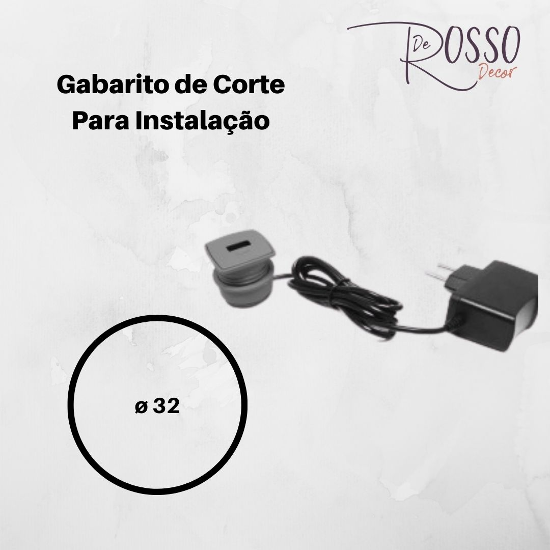 Mini USB Facility De Embutir - Cinza