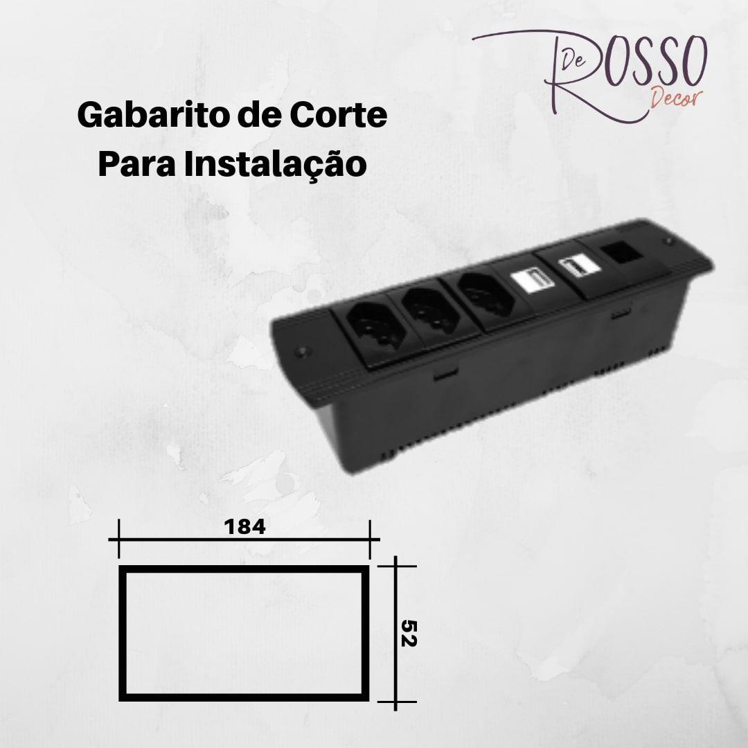 Régua de Caixa Séri 210 para 6 Blocos - Branco (sem blocos)