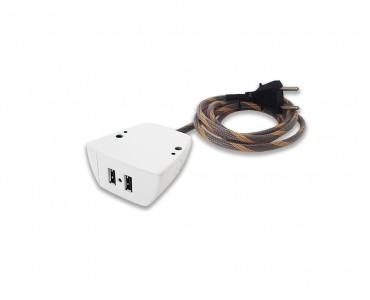 Sonic Tec Fixo 2 USB Cabo 1,7M Revestido - Branco
