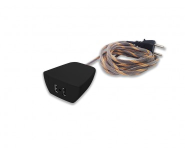 Sonic Tec Móvel 2 USB Cabo 3M Revestido - Preto