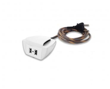 Sonic Tec Móvel C/ Presilha 2 USB Cabo 1,7M Revest. - Branco