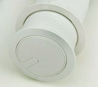 Torre de Tomada Mini Totem Automático 1 Tomada 10A + 2 USB - Branco