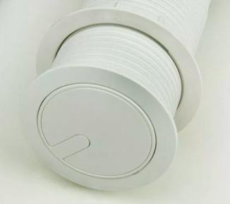 Torre de Tomada Mini Totem Automático 1 Tomada 20A + 2 USB - Branco