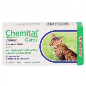 Chemital Gatos Vermífugo blister c/4 comp.