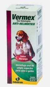 Vermex (anti-helmíntico) cães e gatos - suspensão 20ml