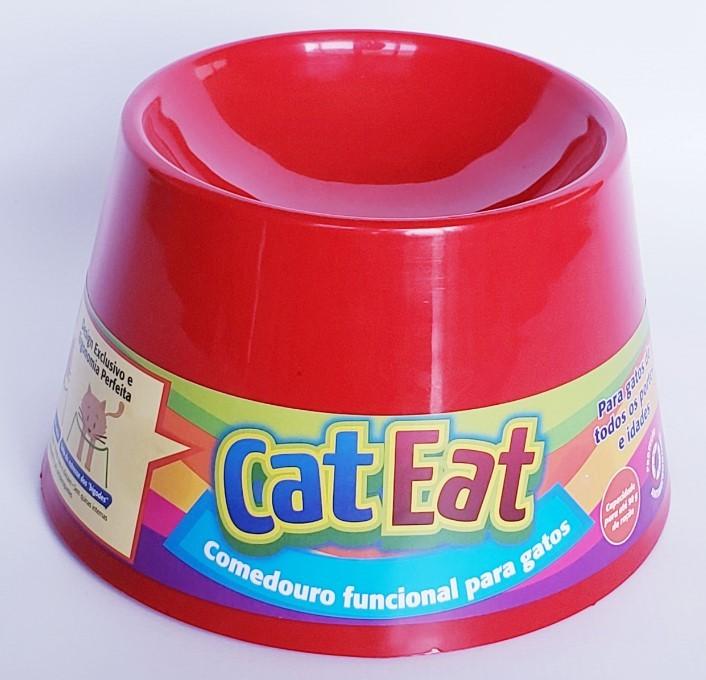 Cat Eat Vermelho