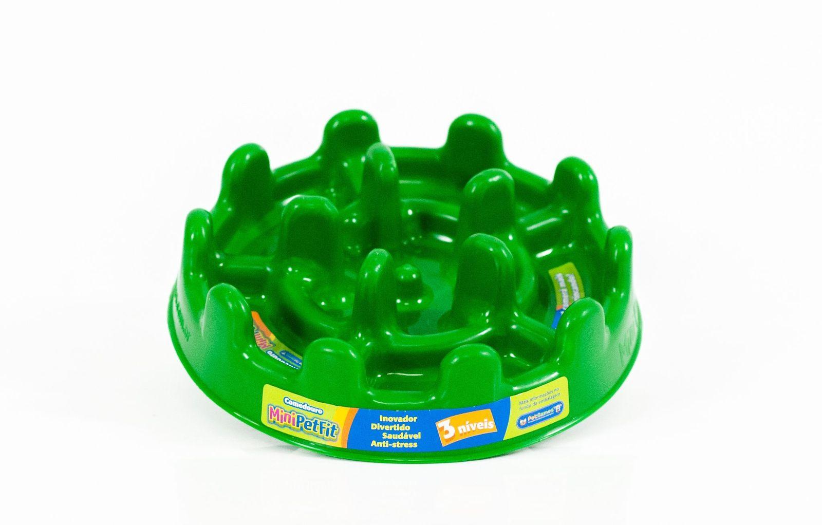 Comedouro Mini Pet Fit Verde Agua