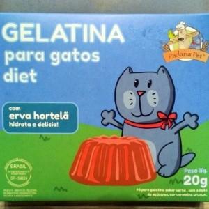 Gelatina Para Gatos Sabor Carne Com Hortelã