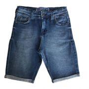 Bermuda Jeans Infantil Masculina com Barra Dobrada