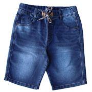 Bermuda Jeans Infantil Masculina com Cordão
