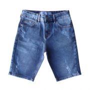 Bermuda Jeans Infantil Masculina Desgastada