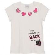 Blusa Infantil Feminina Canelada Coração Rosa