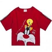 Blusa Infantil Feminina Vermelha Piu Piu e Frajola