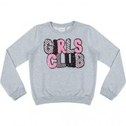 Blusa Moletom Infantil Feminina Girls Club