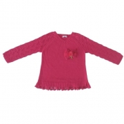 Blusa Tricô Infantil Feminina Pink Infanti