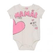 Body Bebê Feminino Coração Mamãe BFF Momi