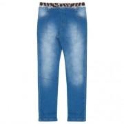 Calça Infantil Feminina Jeans com Cós Animal Print