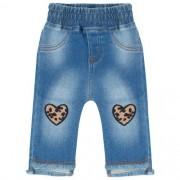 Calça Jeans Bebê Feminina com Corações Oncinha