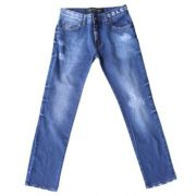 Calça Jeans Infantil Masculina Cós com Logo