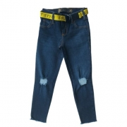 Calça Jeans Infantil Feminina com Cinto Colcci Fun
