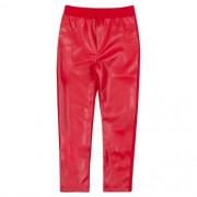 Calça Montaria Infantil Feminina Couro Eco Vermelha
