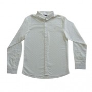 Camisa Masculina Infantil Branca Estampada