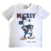 Camiseta Infantil Masculina Branca Mickey Colorido