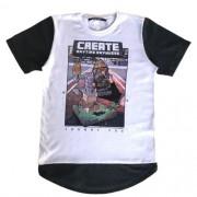 Camiseta Infantil Masculina Branca Minecraft