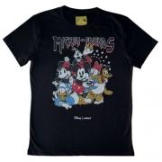 Camiseta Infantil Feminina Preta Mickey e Friends