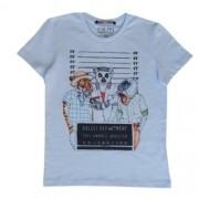 Camiseta Infantil Masculina Branca Animais