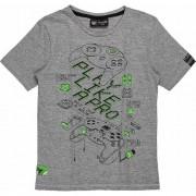 Camiseta Infantil Masculina Cinza  Estampa Controle Videogame Youccie