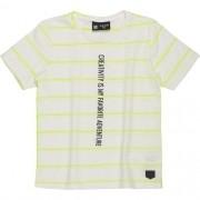 Camiseta Infantil Masculina com Listras Verde Neon