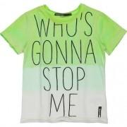Camiseta Infantil Masculina Degrade em Verde Neon