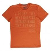 Camiseta Infantil Masculina Laranja I Trust The Next