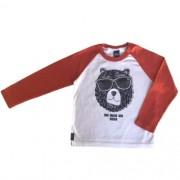 Camiseta Infantil Masculina Urso de Óculos