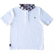 Camiseta Masculina Polo Infantil Gola Xadrez 1+1