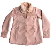 Casaco Infantil Feminino Lã Rosa