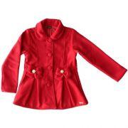 Casaco Infantil Feminino Lã Vermelho