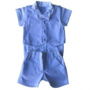Conjunto Masculino Bebê Body Camisa com Colete e Bermuda Social