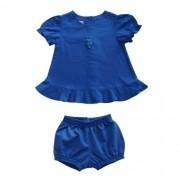 Conjunto Infantil Feminino Bata e Shorts
