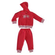 Conjunto Infantil Feminino Vermelho Jaqueta e Calça