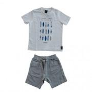 Conjunto Infantil Masculino Camiseta e Bermuda
