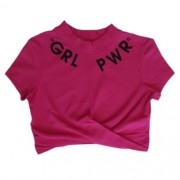 Cropped Infantil Feminino Girl Power